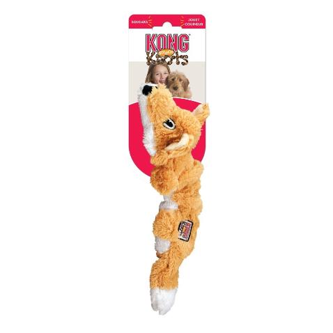 Kong Scrunch Knots Fox Spielzeug L orange